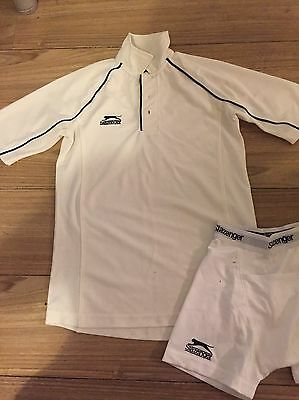 Boys Slazenger Cricket Top and Boxer Shorts Age 9-10 Years