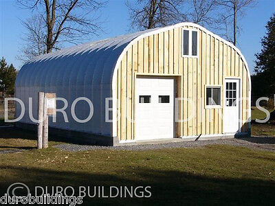 DuroSPAN Steel 25x30x12 Metal Building Kits Pitched Roof Shed Open Ends DiRECT