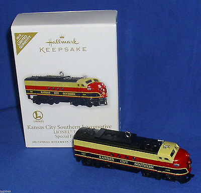 2010  Hallmark Kansas-City-Southern-Locomotive-LIONEL-Trains-Special-Ed