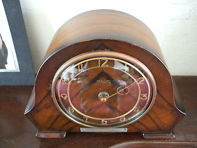 Vintage Smiths 8 Day Mantle Clock With Inscription Troon Home Guard 1952 Vgc