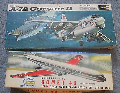 2 X Revell And Airfix Aircraft  Plastic Kits