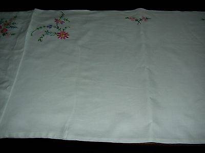 Pair Vintage Hand Embroidered Pillowcases