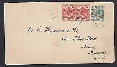 GRENADA 1916 COVER TO USA AT 2½d RATE