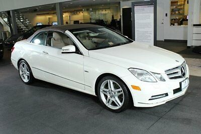 2012 Mercedes-Benz E-Class Base Convertible 2-Door 2012 Convertible Used Gas V6 3.5L/213 7-Speed Automatic RWD White