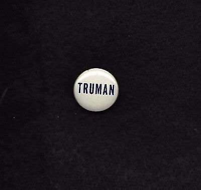 HARRY TRUMAN litho blue on white 3/4 inch 1948 campaign button