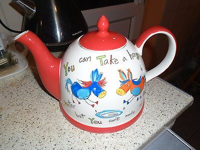 Whittard Of Chelsea  Teapot - You Can Take A Horse To Water