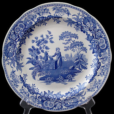 """The Spode Blue Room Collection, 'Girl at Well' 10.1/4"""" plate."""