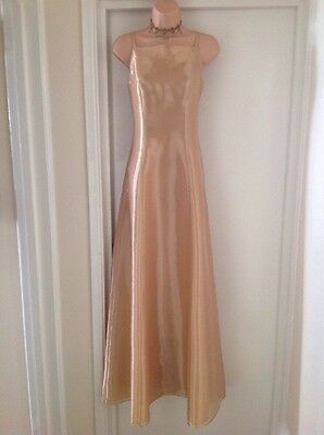 Brand New SIZE 8 ..BHS (WEDDING COLLECTION ) LONG GOLD DRESS..Retails@£100