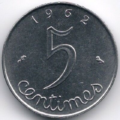 France : 5 Centimes 1962