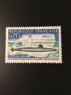 France 1969 First French Nuclear Submarine Le Redoutable sg 1849 MNH
