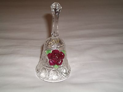 Glass Bell Ornament, With Flower Design