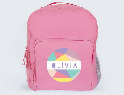 Bright Star Kids Cute Personalised School Book Bag / Backpack - Pastel Coloured