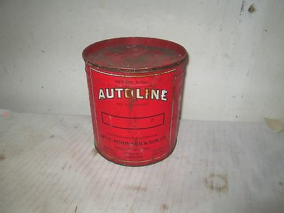 Vintage AUTOLINE  Grease PART CAN OPENED