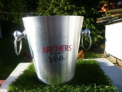 Metal * Archers Schnapps * Vea * Ice Champagne  Bucket With Two Ring Handles *