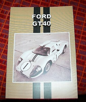 Ford Gt40  Road Test Reprint Book