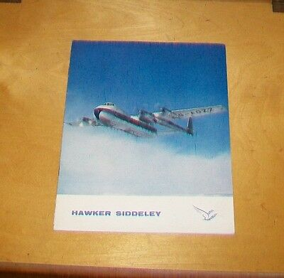 HAWKER SIDDELEY AIRCRAFT RANGE BROCHURE IN FRENCH AVRO GLOSTER HAWKER c1959