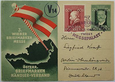 Austria. Fine illustrated postal stationery card sent to Berlin. 1948.