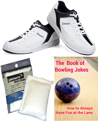 Dexter Ricky Mens Bowling Shoes White + 2 Free Gifts