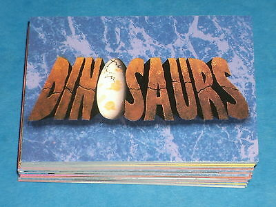 DISNEY'S DINOSAURS Complete Set Of 50 + 5 Trading Cards Comedy Live Action 1992