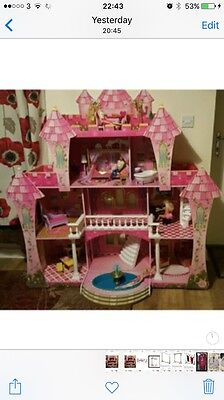 Kidcraft Princess Doll Wooden House With Furniture Girls Play