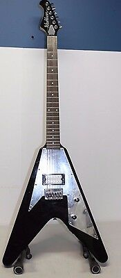 Washburn V-Shaped Paul Stanley Electric Guitar - Black and Silver