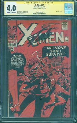 X Men 17 CGC 4.0 SS Stan Lee Signed Magneto Dick Ayers Jack Kirby Cover 1966