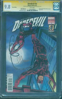 Daredevil 14 CGC 2X SS 9.8 Stan Lee McGunness Variant 1 Show Spider Man 50th Ann