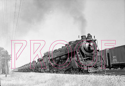 Grand Trunk Western (GTW) Engine 6315 with Tankers at Chicago in 1954 - 8x10