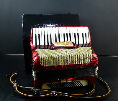 RARE TOP PIANO ACCORDION BUTTSTADT 80 bass,7sw♫Made in GERMANY@PETROF MUSICSTORE