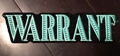 Warrant Back Patch - 80s Metal Hair Band. Iron-on Awesome!