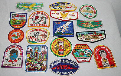 Lot of 17 Japanese National Jamboree Boy Scout Patches assorted