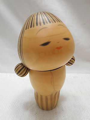 Kokeshi Creative Style Wooden Japanese Doll PIGTAILS Vintage #432