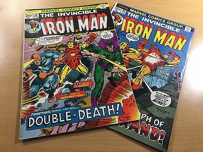 MARVEL Comics INVINCIBLE IRON MAN (1973) #58-59 KEY Bronze Age LOT Ships FREE!
