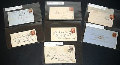 Great Britain 7 Covers 1840s-1880s