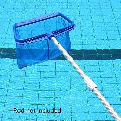 Deep Rectangle Leaf Rake Mesh Net Skimmer Clean Swimming Pool Spa Hot Tub Tool