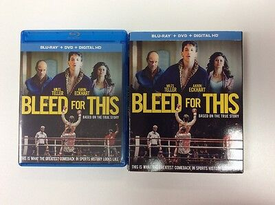 Bleed For This (Blu-ray + Digital HD) No DVD PLEASE READ 2017 LIKE NEW