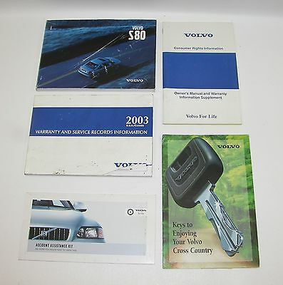 2003 Volvo S80 Factory Owners Manual Book Set  LOOK