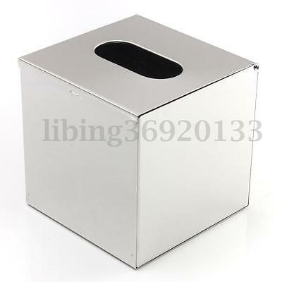 AU Stainless Steel Durable Tissue Box Paper Cover Napkin Holder Home Decor