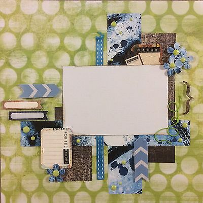 handmade scrapbook page 12 X 12 Remember This Moment Themed Layout
