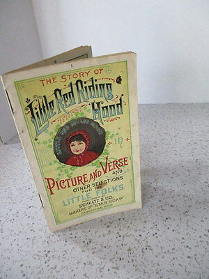 "Antique Advert Give-Away Star Soap, ""the Story Of Little Red Riding Hood"", Cute"