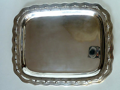 """Spratling """"conquistador"""" Mexican Sterling Small Tray """"13"""" In Bell Mark 1949-52"""
