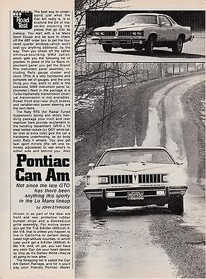 1977 Pontiac Can Am, Detailed United States Car Magazine Road Test Report