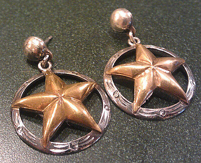 VINTAGE Mexico Sterling Silver Earrings BC 925