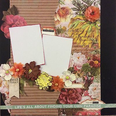 handmade scrapbook page 12 X 12 Find Your Own Paradise Layout