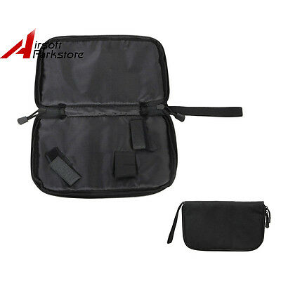 Black Tactical Hunting Padded Hand Gun Pistol Carry Case Pouch Storage Bag 600D