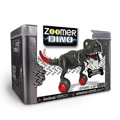 Spin Master Zoomer Dino with Tin Collector's Case - ONYX Black Dino - NEW