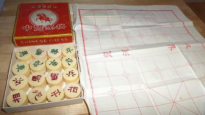 Vintage CHINESE CHESS # 342 Game in original Box Paper playing board