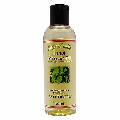 Magic Of India Patchouli Herbal Massage Essential Oil For Full Body - 100 ml