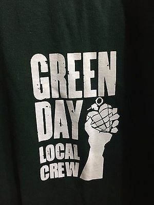 Green Day Local Crew Tshirt - American Idiot Tour - 2005
