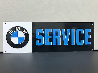 BMW SERVICE advertising sign baked 18x6